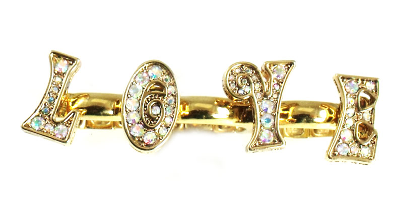 Betsey Johnson Jewelry 60s Mod Love Ring