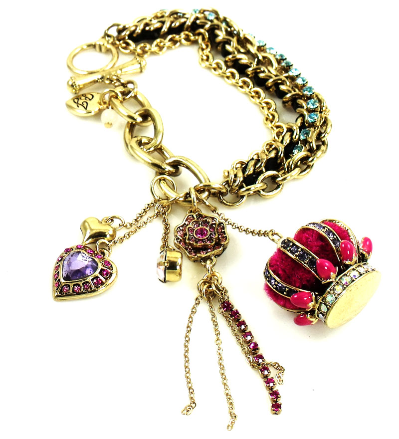 Betsey Johnson Jewelry Imperial Crown Toggle Bracelet