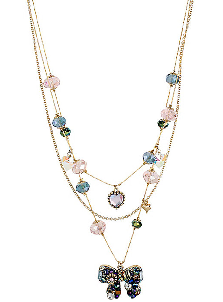Betsey Johnson Jewelry WOVEN CLUSTERS ILLUSION NECKLACE