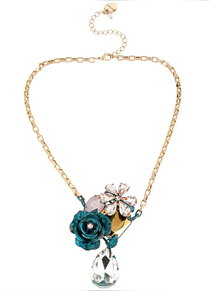 Betsey Johnson Jewelry PATINA FLOWER CLUSTER PENDANT