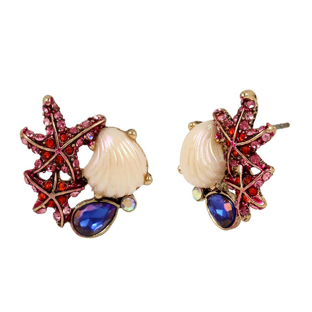 Betsey Johnson Jewelry BETSEY and THE SEA Starfish and Sea Shell Stud Earrings