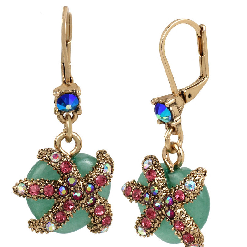 Betsey Johnson Jewelry BETSEY and THE SEA Starfish Drop Earrings