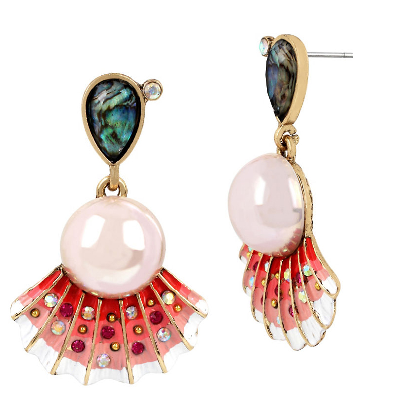 Betsey Johnson Jewelry BETSEY and THE SEA Sea Shell Drop Earrings