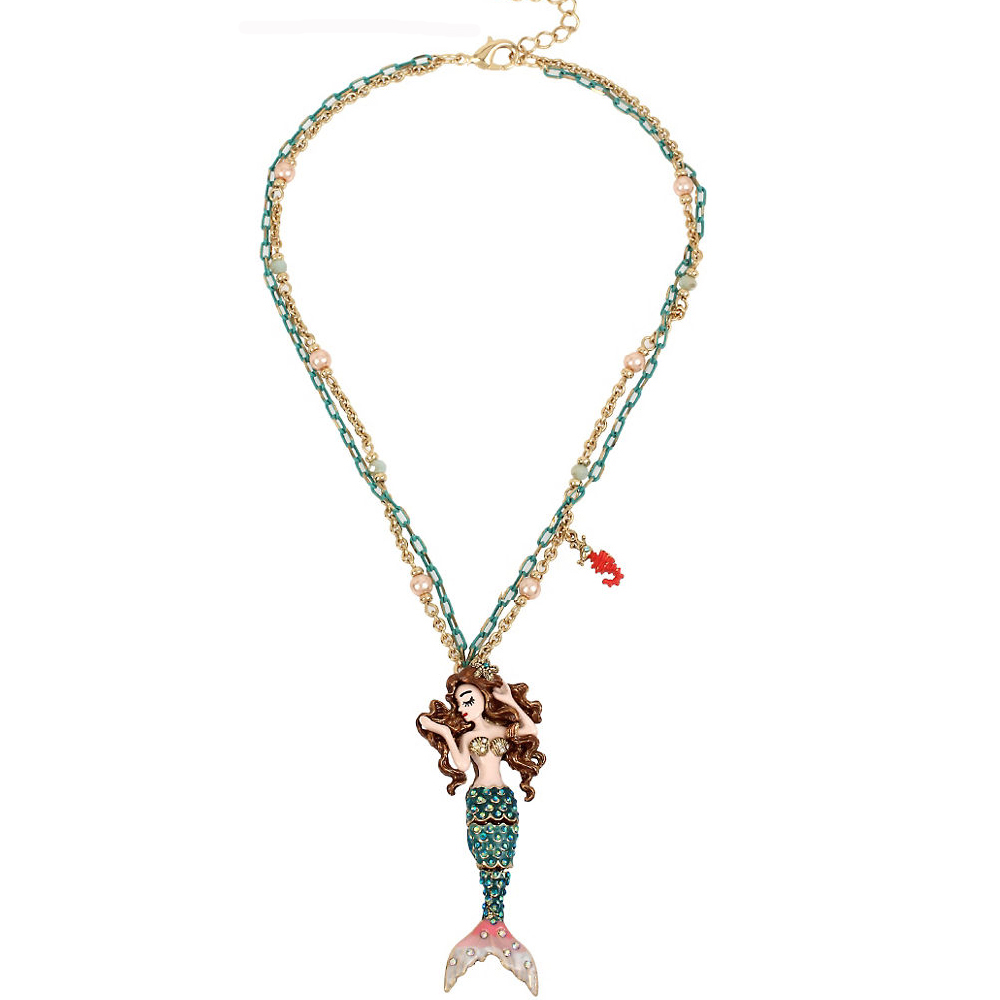 Betsey Johnson Jewelry BETSEY and THE SEA Mermaid Pendant Necklace