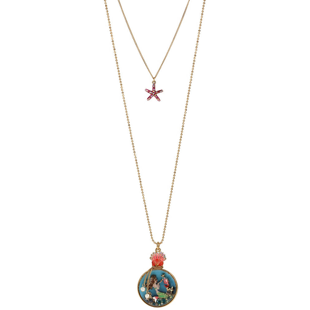 Betsey Johnson Jewelry BETSEY and THE SEA Mermaid and Starfish Pendant Necklace
