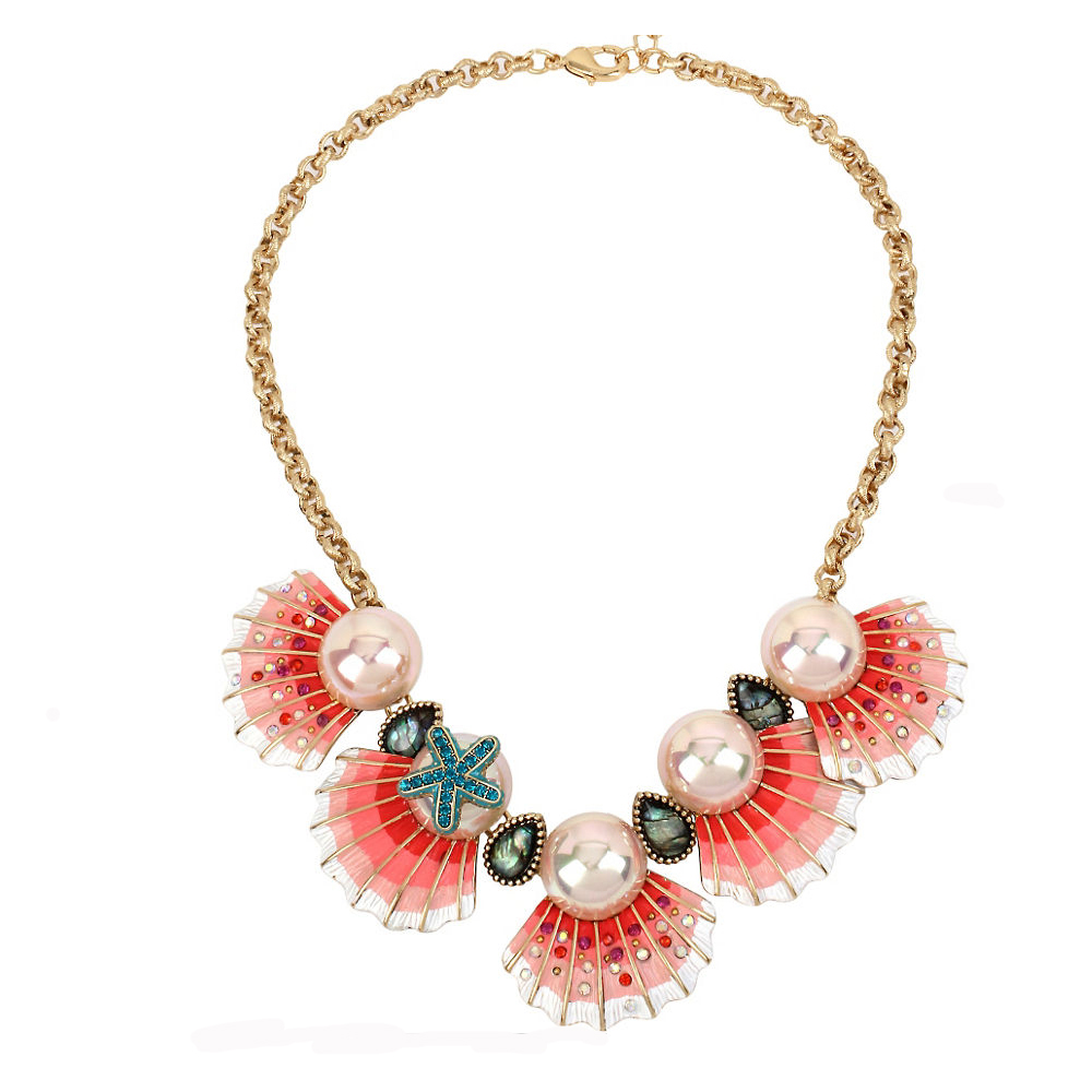 Betsey Johnson Jewelry BETSEY and THE SEA Shell Frontal Necklace