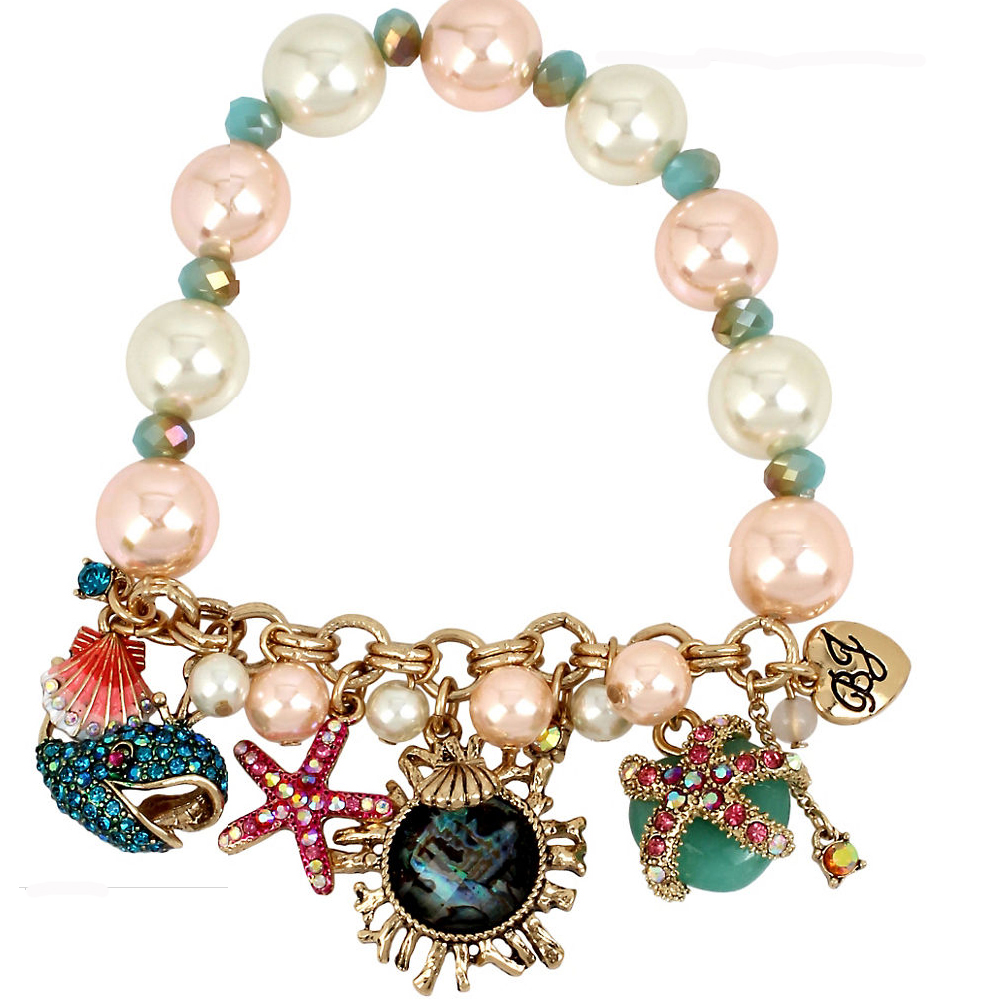 Betsey Johnson Jewelry BETSEY and THE SEA Faux Pearl Charm Bracelet