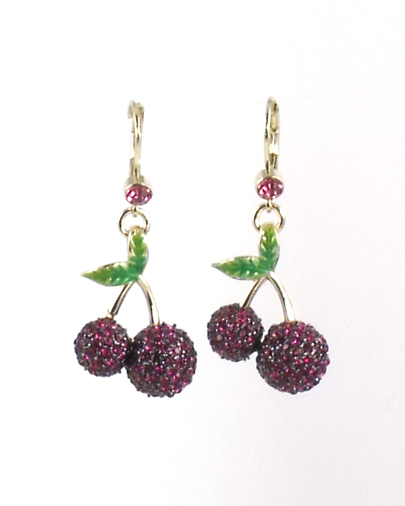 Betsey Johnson Jewelry Calypso Betsey Cherry Drop Earrings
