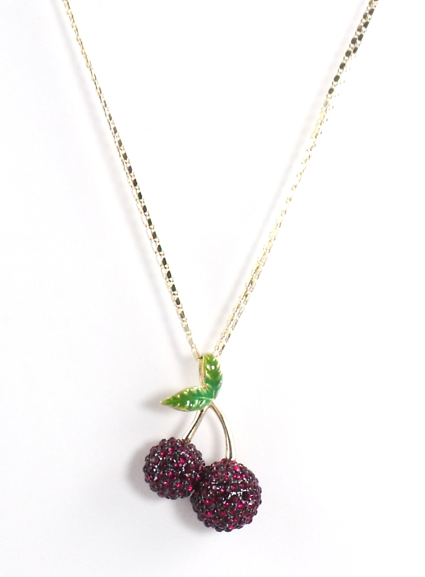 Betsey Johnson Jewelry Calypso Betsey Cherry Necklace