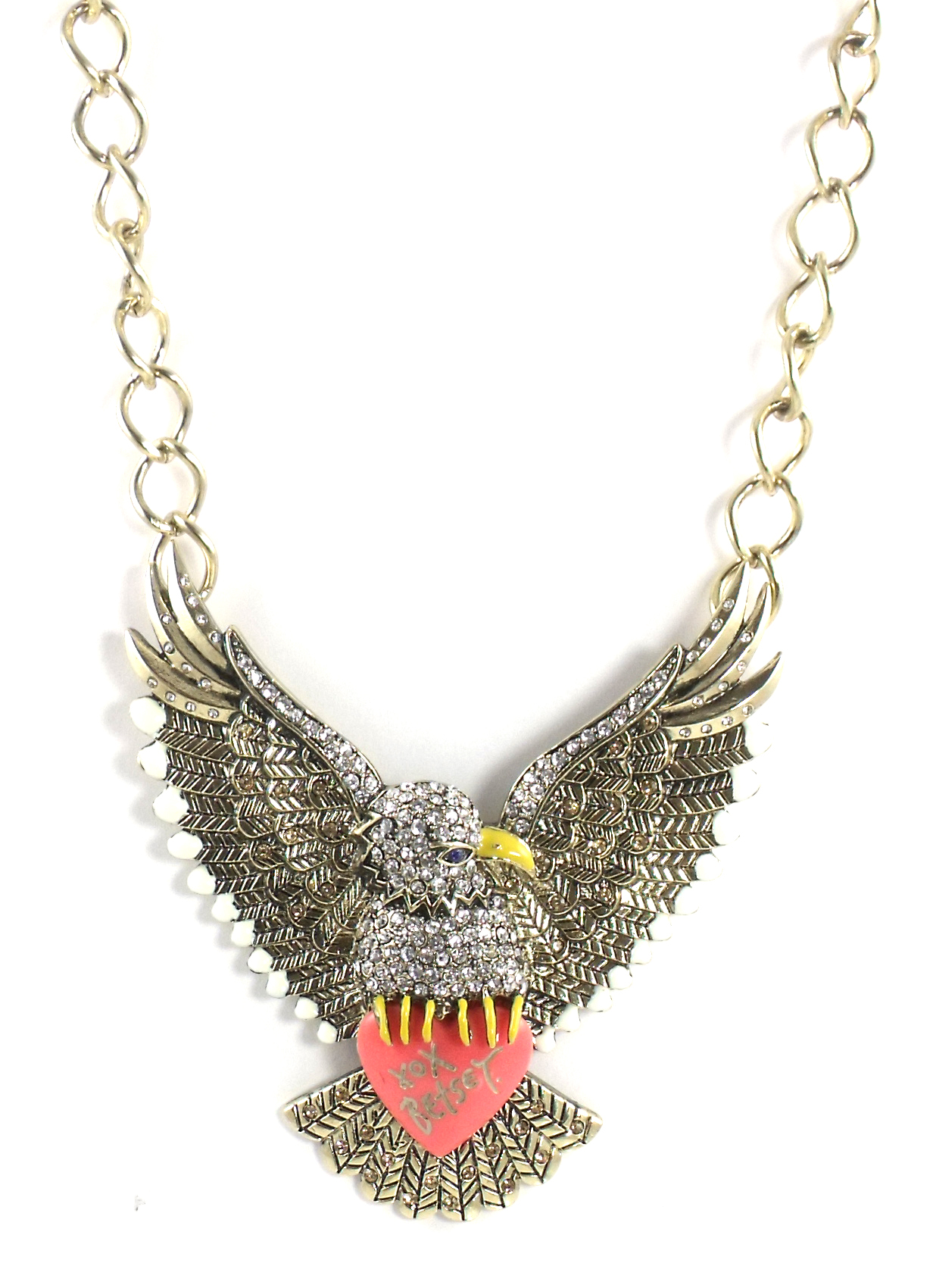 Betsey Johnson Jewelry Americana Eagle Statement Necklace
