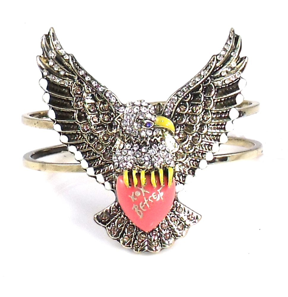 Betsey Johnson Jewelry Americana Eagle Statement Bracelet