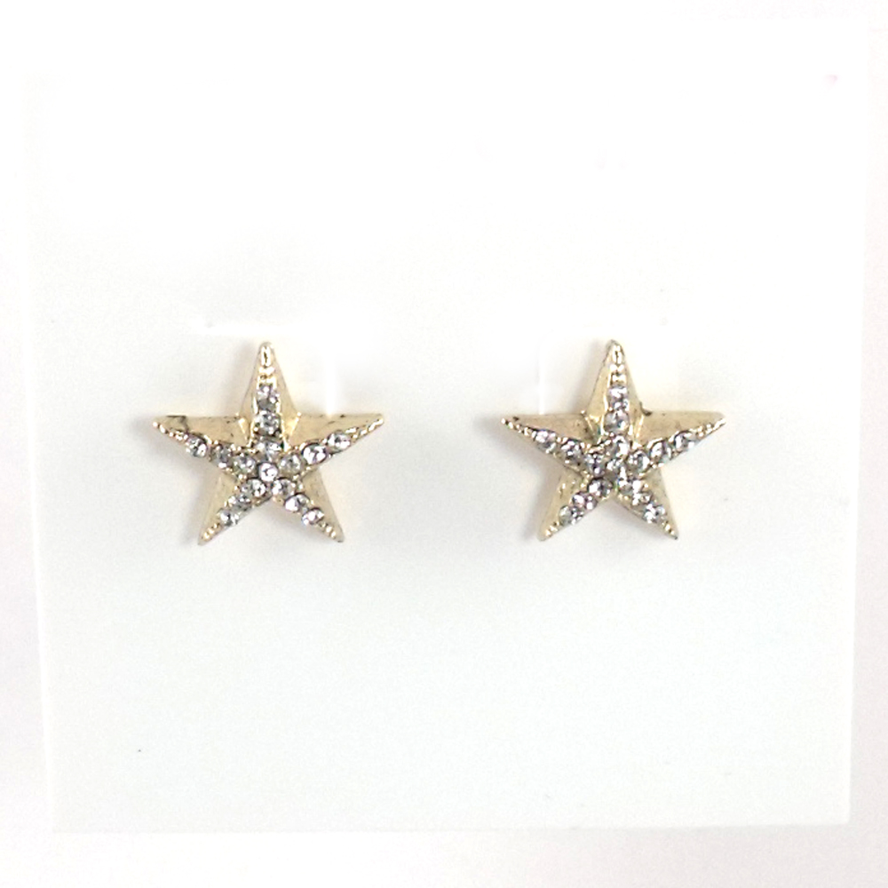 Betsey Johnson Jewelry Americana Star Stud Earrings