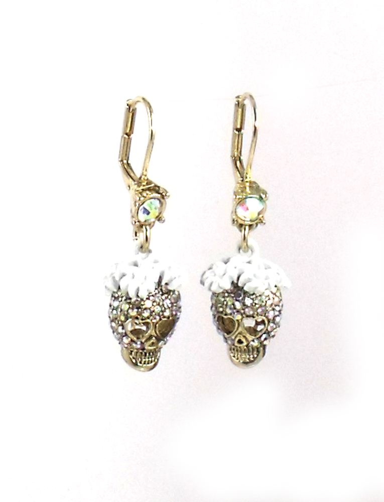 Betsey Johnson Jewelry I Dream Of Betsey Skull Drop Earrings