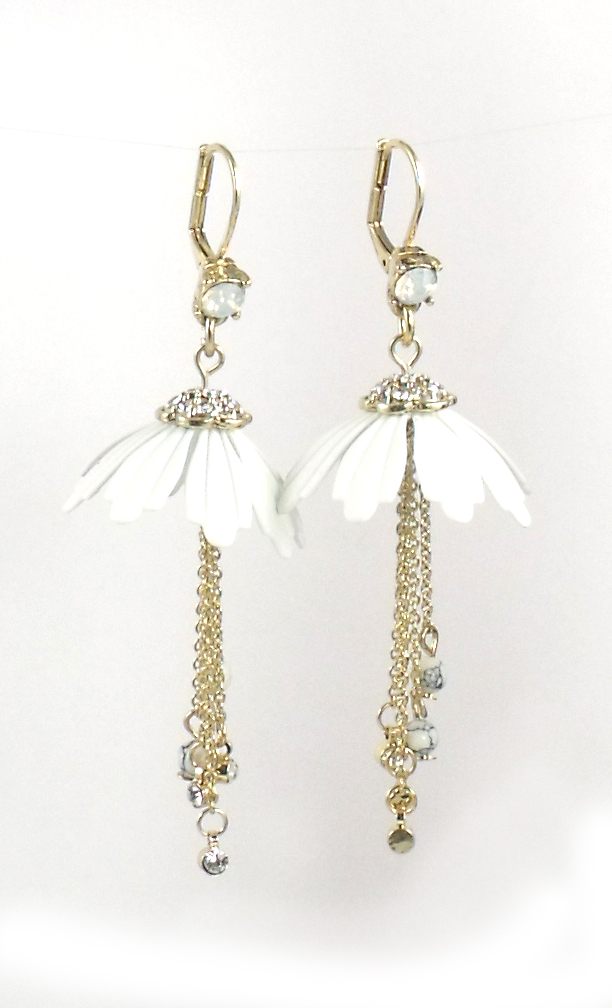 Betsey Johnson Jewelry I Dream Of Betsey Flower Drop Earrings