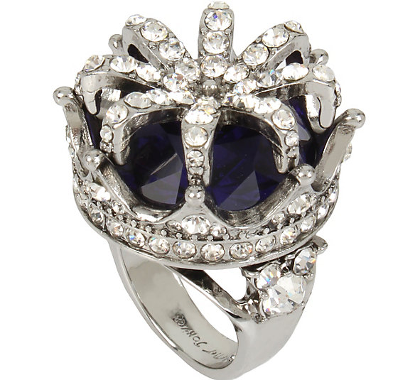 Betsey Johnson Jewelry BETSEYS PURPLE CROWN COCKTAIL RING