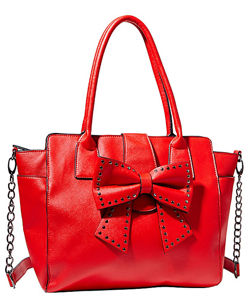 Betsey Johnson Handbag SINCERELY YOURS BOW TOTE Red