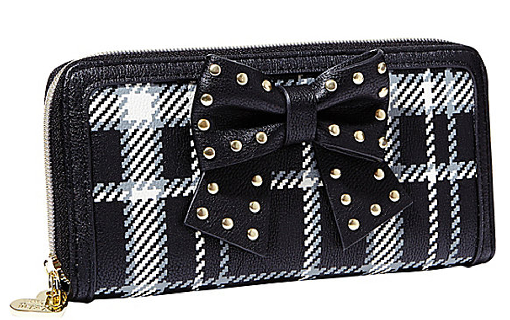 Betsey Johnson Handbag SINCERELY YOURS BOW WALLET Black