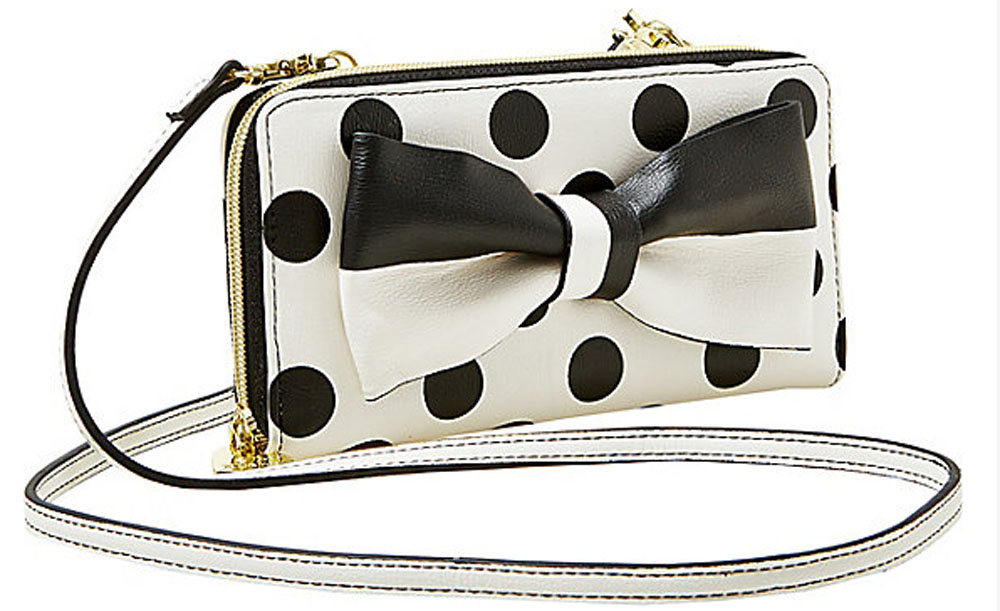 Betsey Johnson GIFT ME BABY WALLET ON A STRING cream