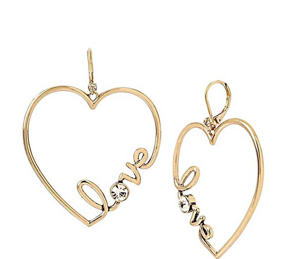 Betsey Johnson Jewelry HEARTS AND ARROWS LOVE EARRINGS