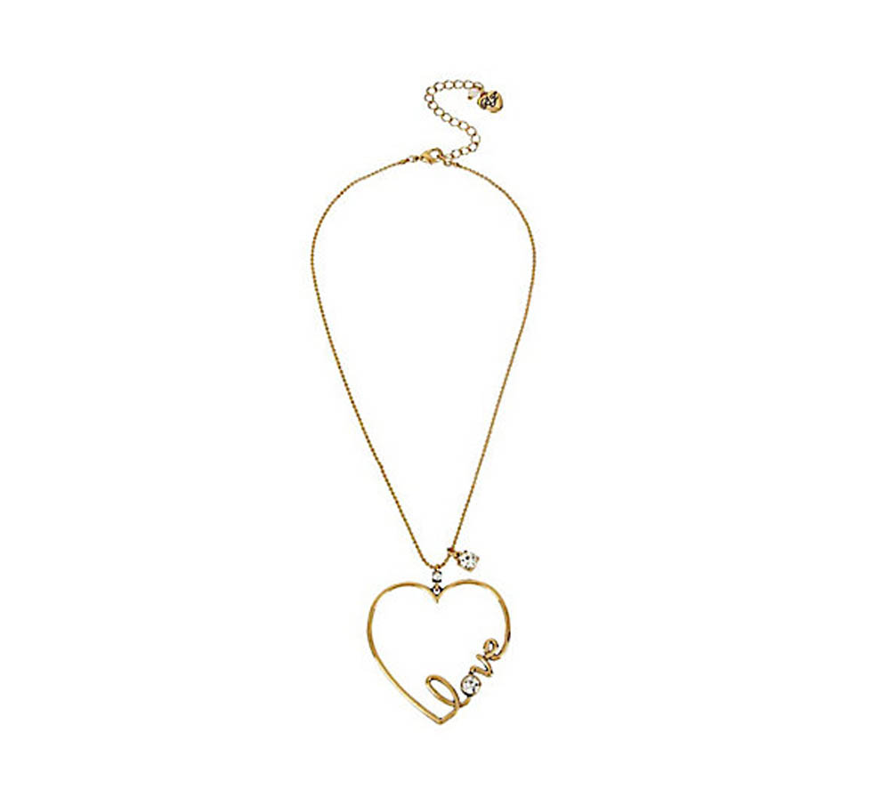 Betsey Johnson Jewelry HEARTS AND ARROWS LOVE PENDANT