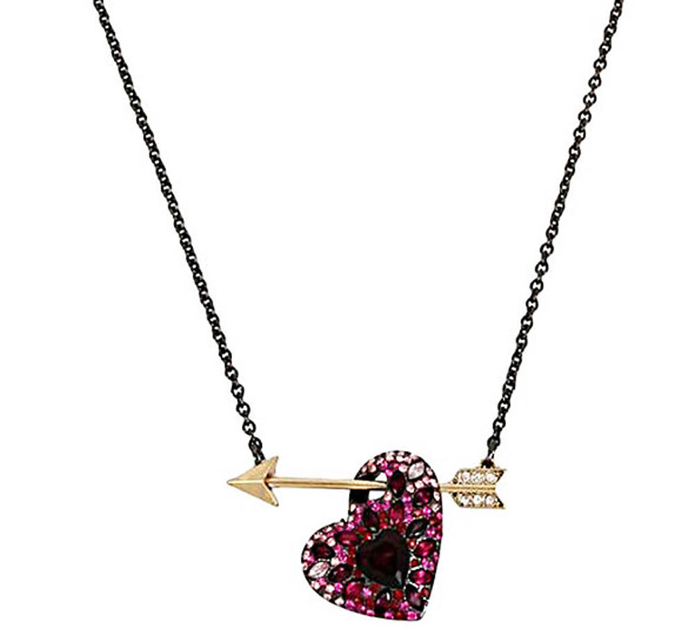 Betsey Johnson Jewelry HEARTS AND ARROWS PIERCED HEART PENDANT
