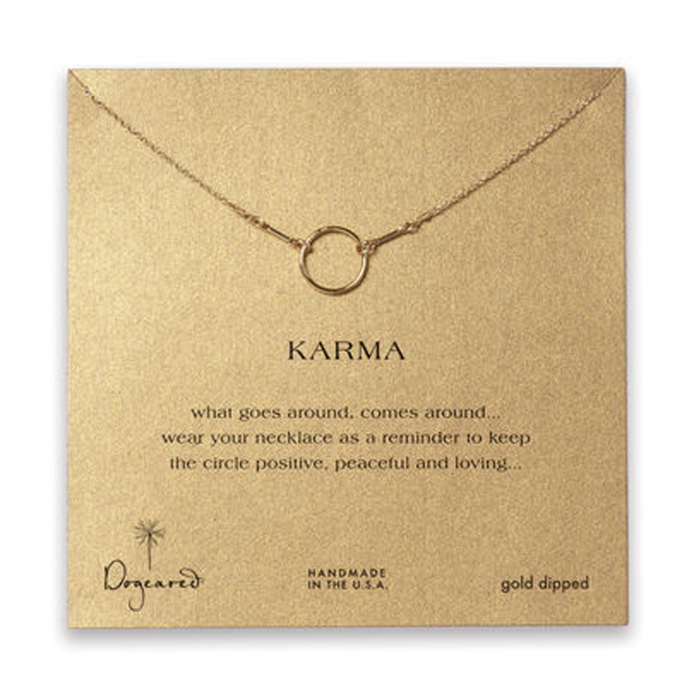 Dogeared Jewelry the original karma necklace, gold dipped