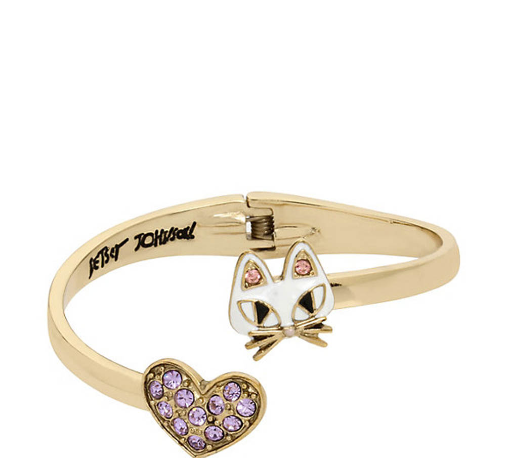 Betsey Johnson Jewelry MINI CRITTERS CAT BANGLE