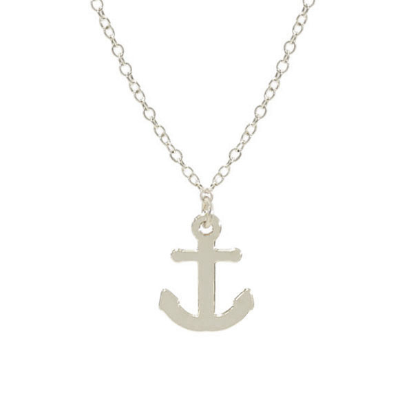 Kris Nations Jewelry Anchor Necklace Silver