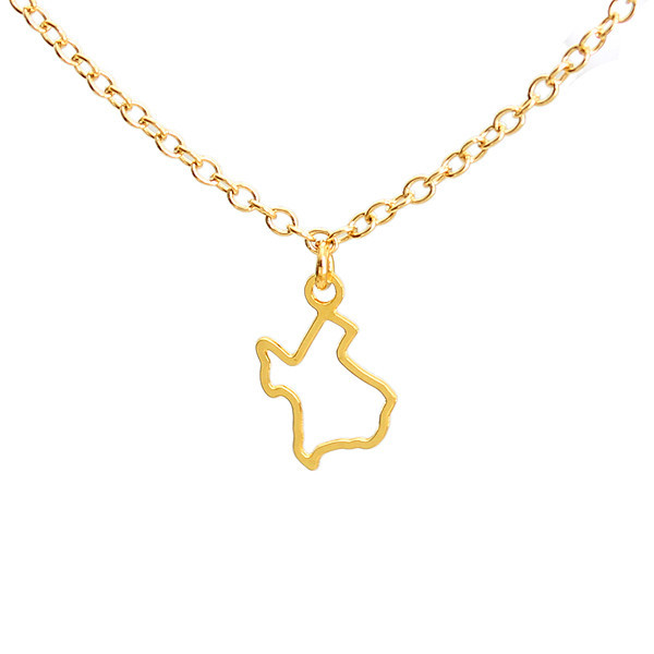 "Kris Nations Jewelry ""Small Texas"" Pendant Necklace Gold"