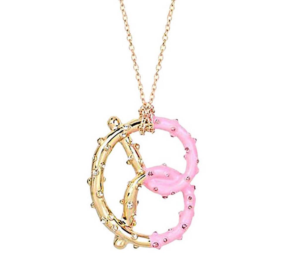 betsey johnson jewelry sweet shop pretzel pendant nwt ebay
