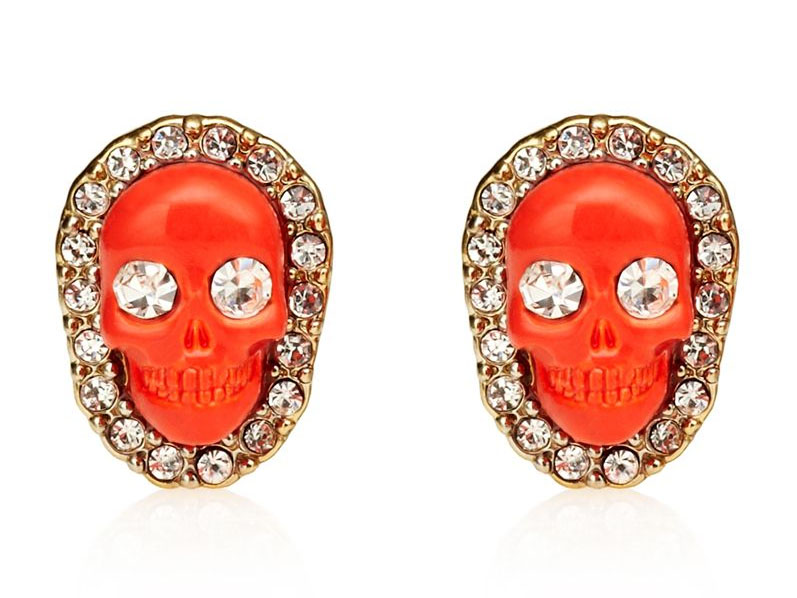 Juicy Couture Jewelry Skull Stud Earrings New 2013