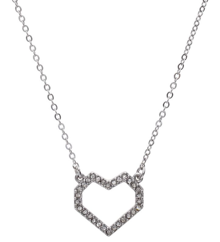 Juicy Couture Jewelry OPEN PAVE HEART NECKLACE