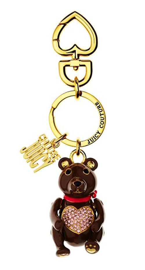 Juicy Couture Keychain PAVE TEDDY BEAR KEYFOB