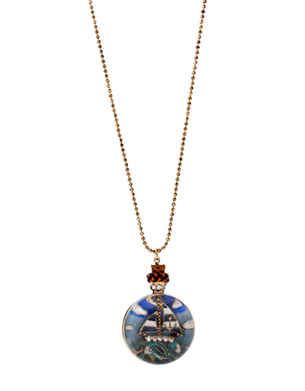 Betsey Johnson Jewelry Ship Shaoe Sailboat Compass Necklace
