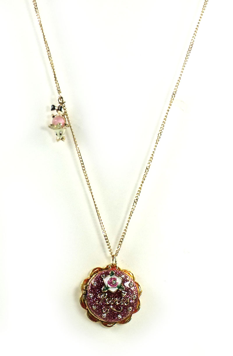 Betsey Johnson Jewelry Paris Is A Good Idea Cake Long Necklace