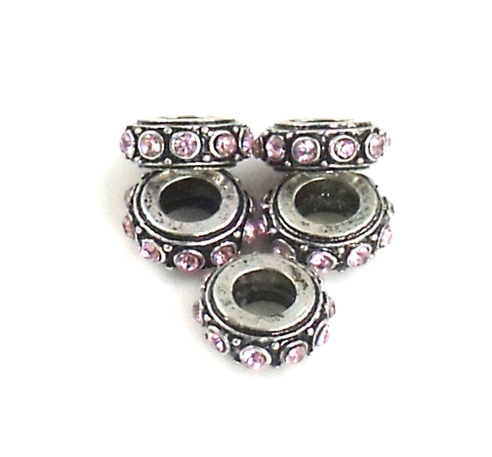 Athena Jewelry Silver Amethyst Crystal Bead Spacers 5