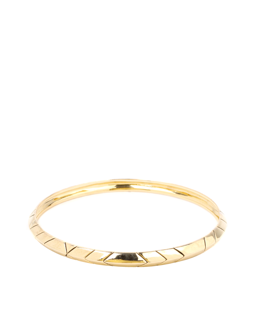 House of Harlow 1960 Thin Stack Bangle Gold