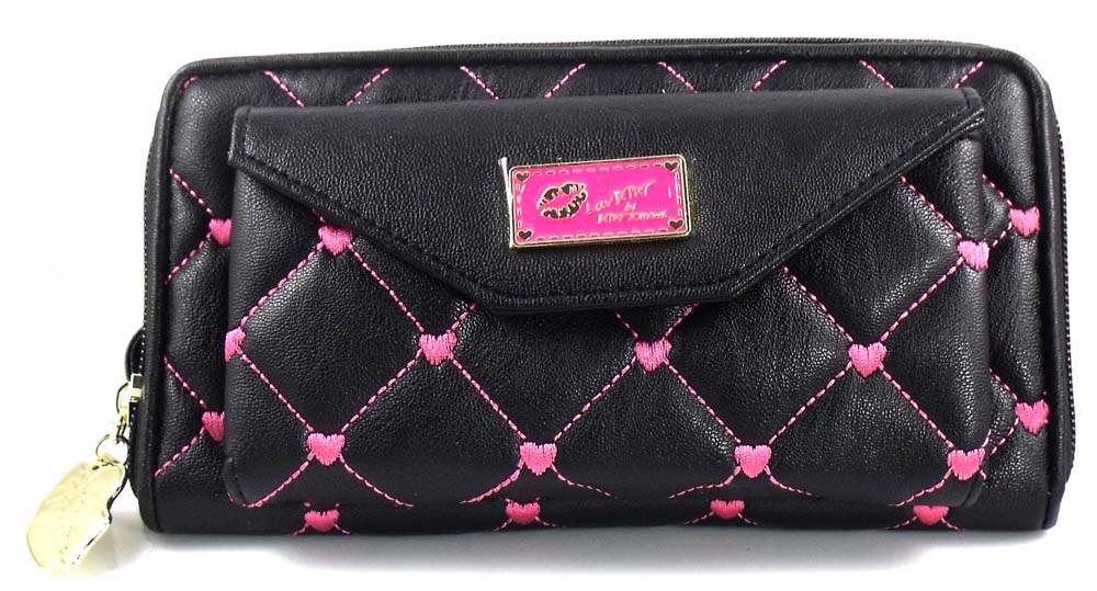 Luv Betsey by Betsey Johnson WALLET ON A STRING black
