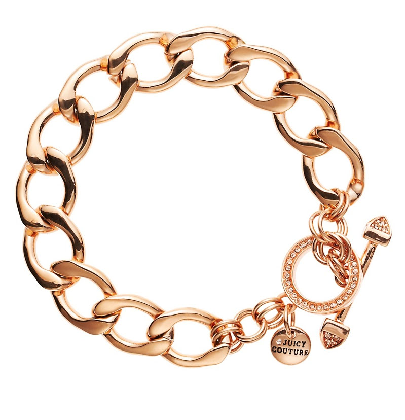 Starter Charm Bracelet: Juicy Couture Jewelry Rose Gold Starter Link Charm