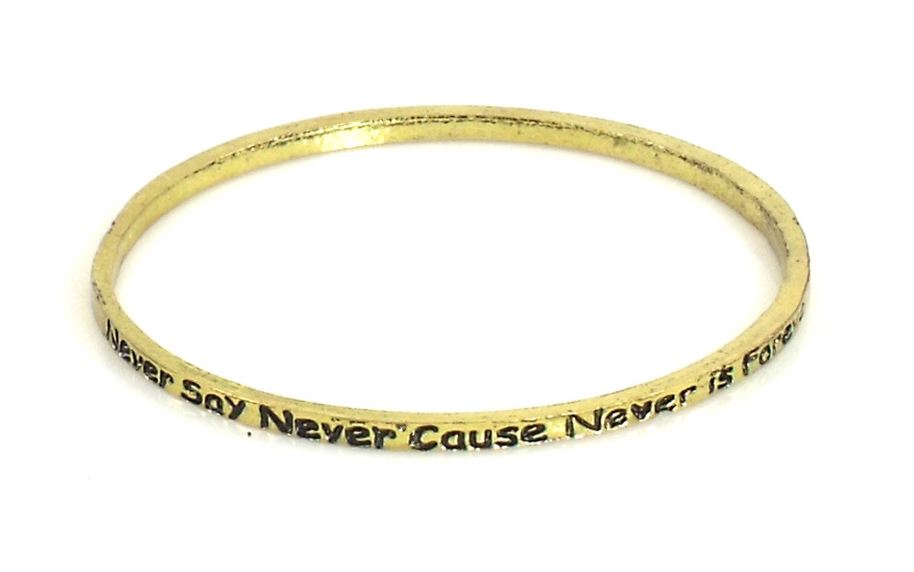 Urban Chic Jewelry Inspire Bangle Bracelets Never Say Never