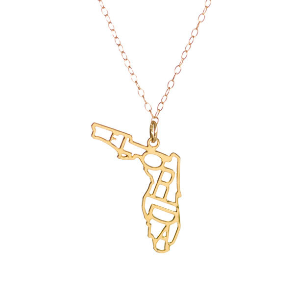 "Kris Nations Jewelry ""Florida"" Pendant Necklace Gold"