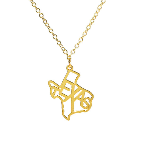 "Kris Nations Jewelry ""Texas"" Pendant Necklace Gold"