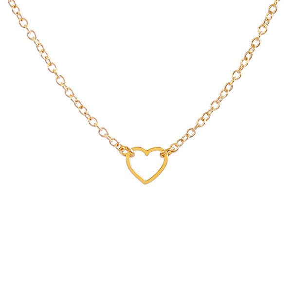 Kris Nations Jewelry Tiny Heart Necklace Gold