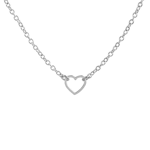 Kris Nations Jewelry Tiny Heart Necklace Silver