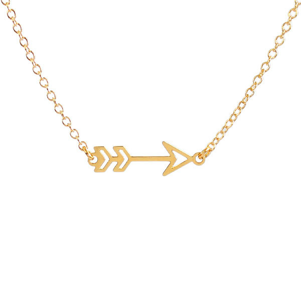 Kris Nations Jewelry Arrow Necklace Gold