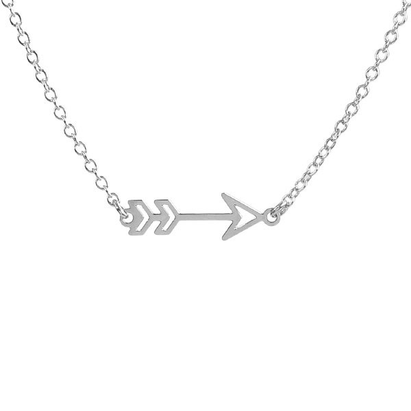 Kris Nations Jewelry Arrow Necklace Silver