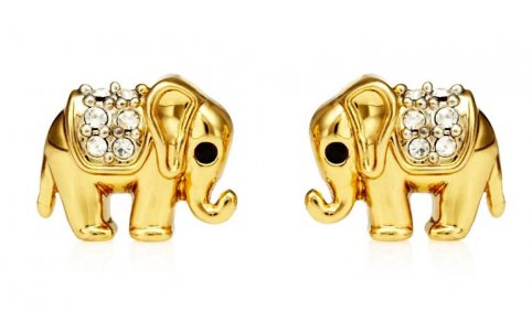 Juicy Couture Jewelry Elephant Stud Earrings New 2013