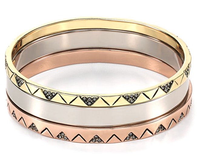 House of Harlow 1960 Santorini Stacked Bangles, Set of 3