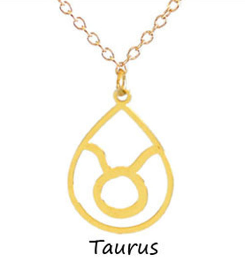 "Kris Nations Jewelry ""Taurus"" Pendant Necklace Gold"