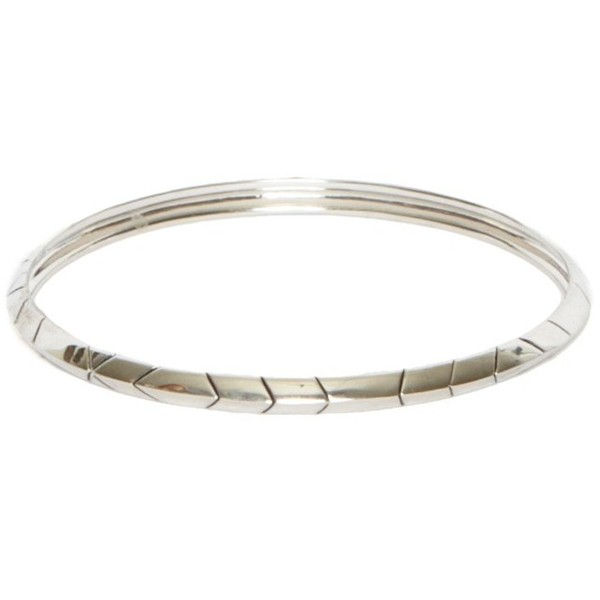 House of Harlow 1960 Thin Stack Bangle Silver